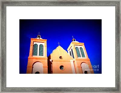 Mission Church Silver City Nm Framed Print by Susanne Van Hulst