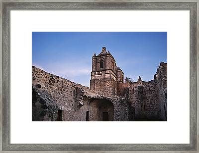 Mission Concepcion Courtyard Framed Print