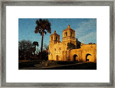Mission Concepcion In Oil Framed Print