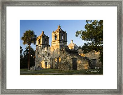 Mission Concepcion In The Evening Framed Print