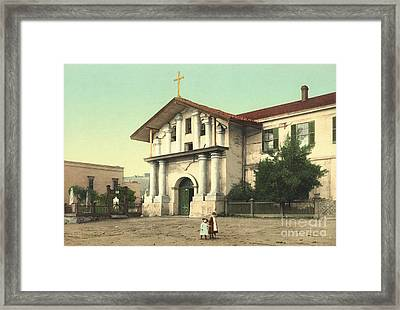 Mission Dolores In San Francisco Framed Print by Padre Art