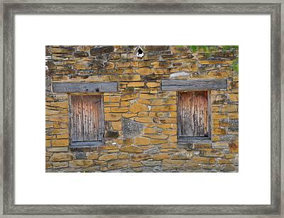 Mission Dwelling Windows Framed Print by Peter  McIntosh