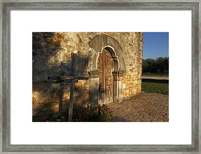 Mission Espada Framed Print