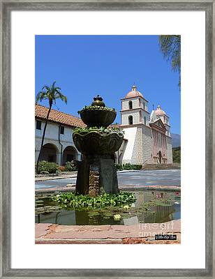 Mission Fountain Framed Print by Methune Hively