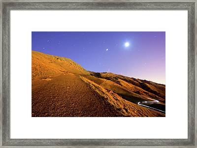 Mission Peak At Dawn Framed Print by Sean Duan