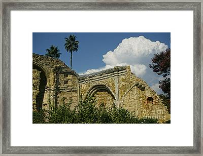 Mission Ruins Framed Print by Diana Cox