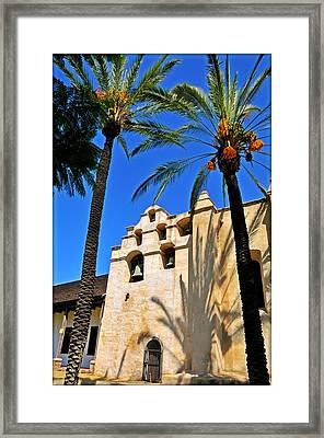 Mission San Gabriel Arcangel Framed Print by Lyle  Huisken