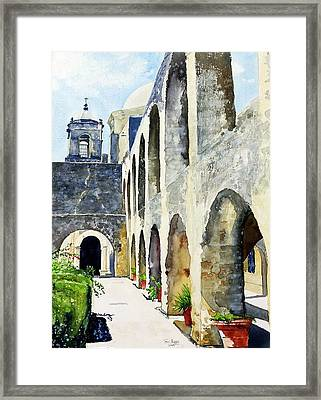 Framed Print featuring the painting Mission San Jose by Tom Riggs