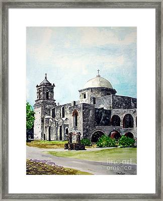 Framed Print featuring the painting Mission San Jose Two by Tom Riggs
