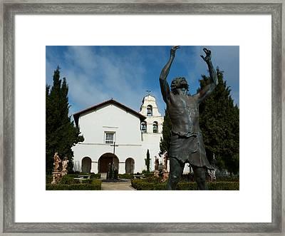 Mission San Juan Bautista Framed Print by Jeff Lowe