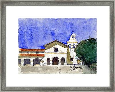 Mission San Juan Bautista Framed Print by Jerry Grissom