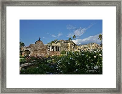 Mission San Juan Capistrano Framed Print by Diana Cox