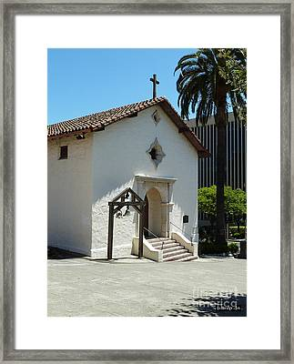 Mission San Rafael Arcangel Chapel Framed Print by Methune Hively