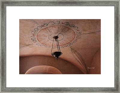 Mission San Xavier Del Bac - Ceiling Detail Framed Print by Suzanne Gaff