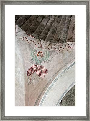 Mission San Xavier Del Bac - Painting Detail Framed Print