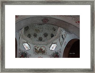Mission San Xavier Del Bac - Vaulted Ceiling Detail Framed Print by Suzanne Gaff