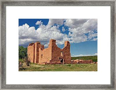 Mission To Quarai New Mexico Framed Print by Christine Till