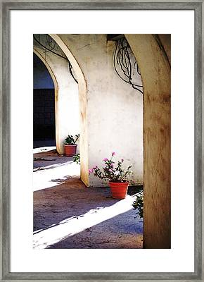 Mission Walkway Framed Print