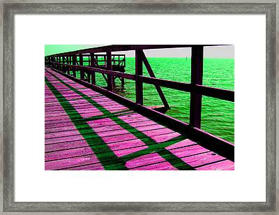 Mississippi  Pier - Ver. 5 Framed Print by William Meemken
