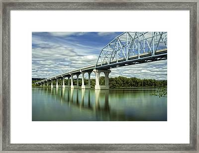 Framed Print featuring the photograph Mississippi River At Wabasha Minnesota by Tom Gort