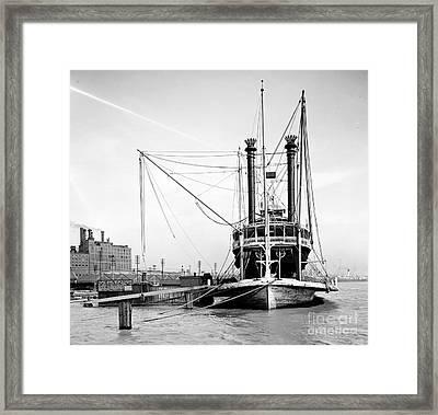 Mississippi River Packet 1905 Framed Print