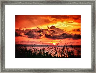 Mississippi Sunset At The Ross Barnett Reservoir 1 Framed Print