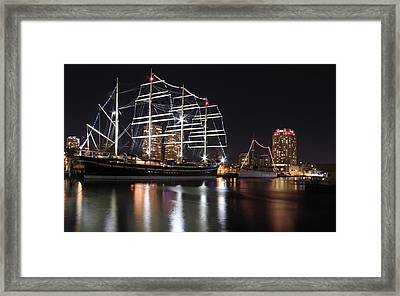 Framed Print featuring the photograph Missoula At Nighttime by Alice Gipson