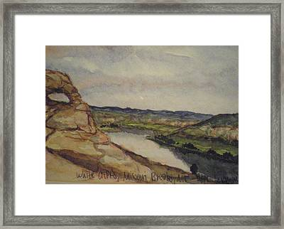 Missouri Breaks Framed Print by Les Herman