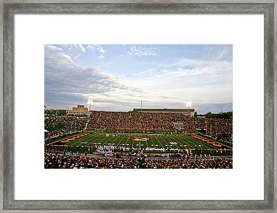 Missouri Memorial Stadium On Game Day Framed Print by Replay Photos