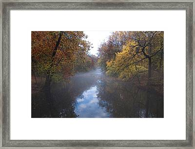 Mist Along The Wissahickon Framed Print by Bill Cannon