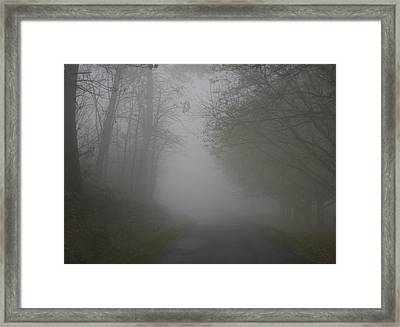 Mist Fog And The Road Framed Print by Georgia Fowler