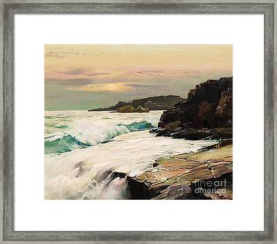 Mist Moon Framed Print by Pg Reproductions