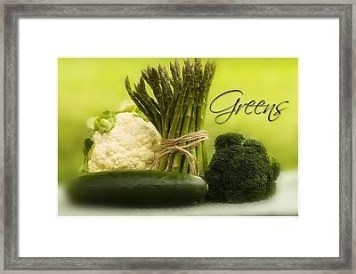 Mist Of Greens Framed Print