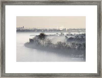 Mist Shrouded River Framed Print by Jeremy Woodhouse