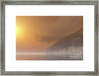 Mist Starts Burning Framed Print