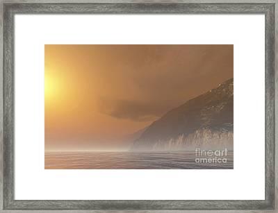 Mist Starts Burning Framed Print by Corey Ford