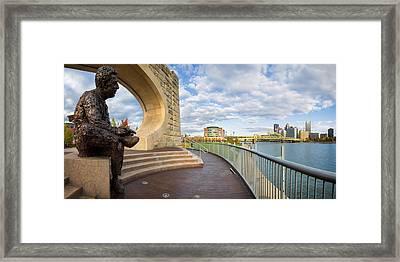 Mister Rogers Statue Framed Print by Emmanuel Panagiotakis