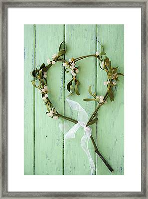 Mistletoe Decoration Framed Print