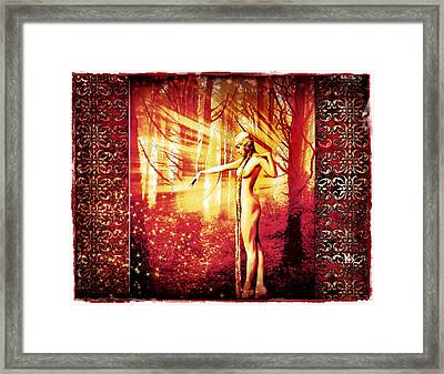 Framed Print featuring the photograph Mistress Of The Forest 2 by Mary Morawska