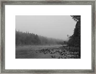 Misty Androscoggin Framed Print by Lloyd Alexander