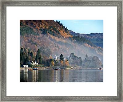 Framed Print featuring the photograph Misty Autumn Morning by Lynn Bolt