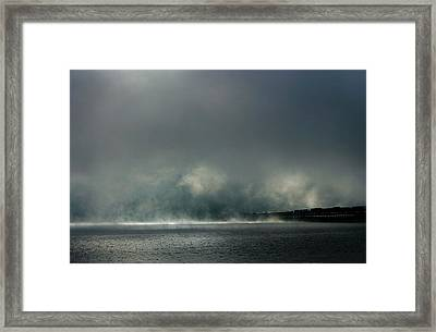 Misty Crossing-2 Framed Print by Marie-Dominique Verdier