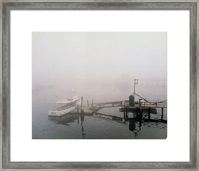 Misty Harbor Rye Beach Framed Print