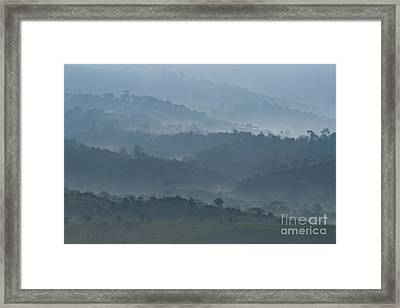 Misty Hills Of Chiriqui Framed Print by Heiko Koehrer-Wagner