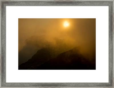 Misty Hongpo Sunset South Korea Framed Print by Gabor Pozsgai