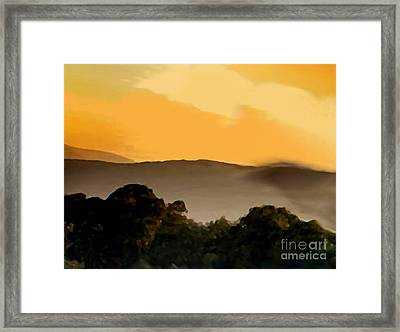 Misty Horizon Framed Print