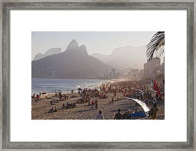 Misty Ipanema Framed Print by George Oze