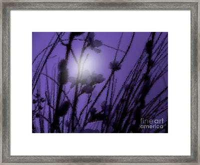 Framed Print featuring the photograph Misty Moonlight Marsh by Roxy Riou