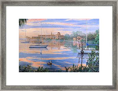 Framed Print featuring the painting Misty Morn by AnnaJo Vahle