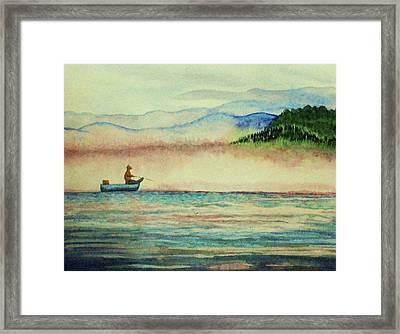 Misty Morning Catch Framed Print by Jeanette Stewart